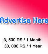 Put your banner ad here...Rs. 3,500 for 1 Month period and Rs. 30,000 for 1 Year period
