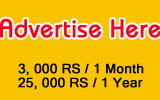 Put your banner ad here...Rs. 3000 for 1 Month period and Rs. 25,000 for 1 Year period