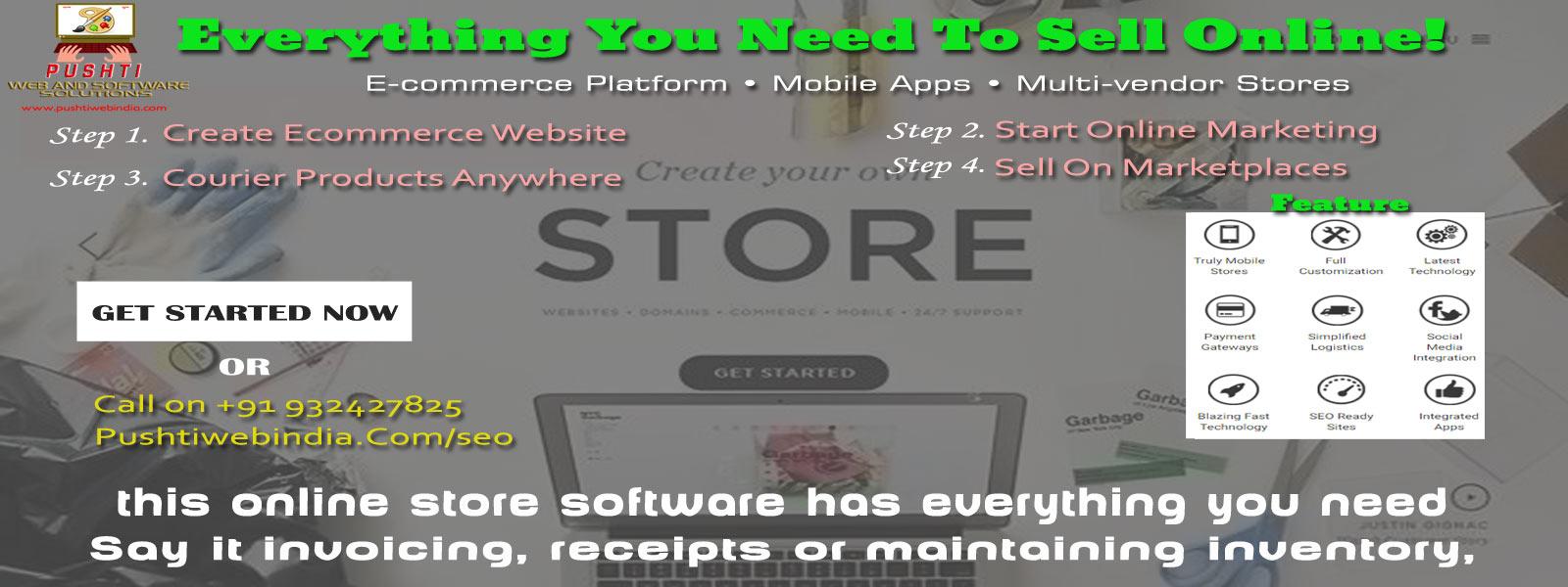 ecommerce website, ecommerce software, multi vendor store, e-commerce platform, ecommerce mobile app