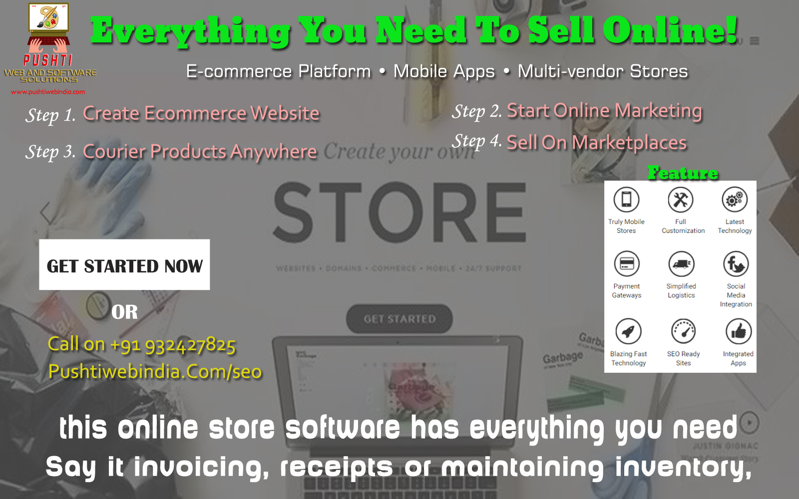 Create Online E-commerce Store | Signup To Get Your Ecommerce Website | Everything You Need To Sell Online!